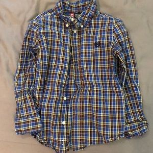 Like New - Boys Plaid Button Up Size 6 CHAPS